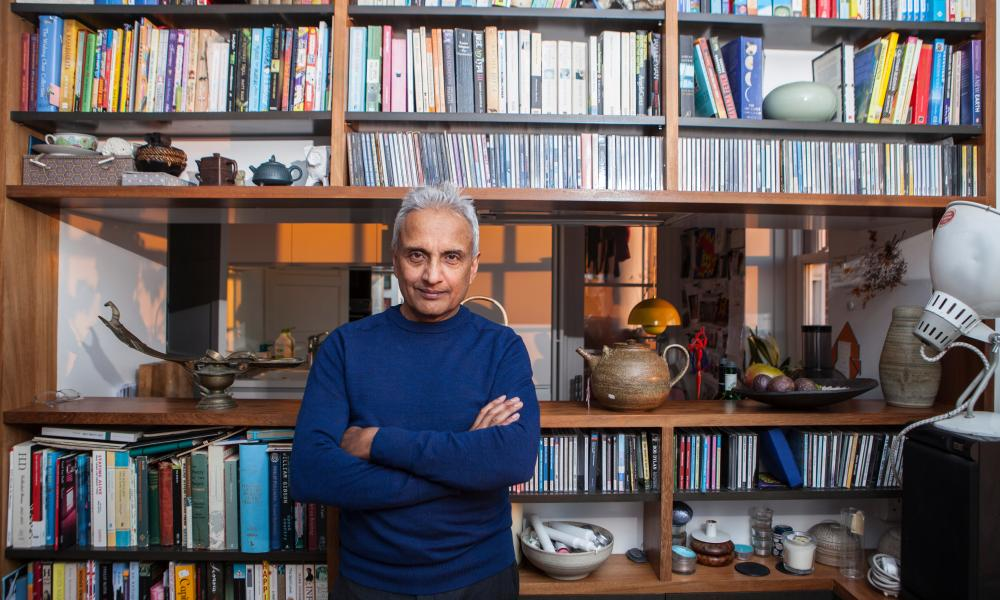 Sunand Prasad at his flat in Highgate.