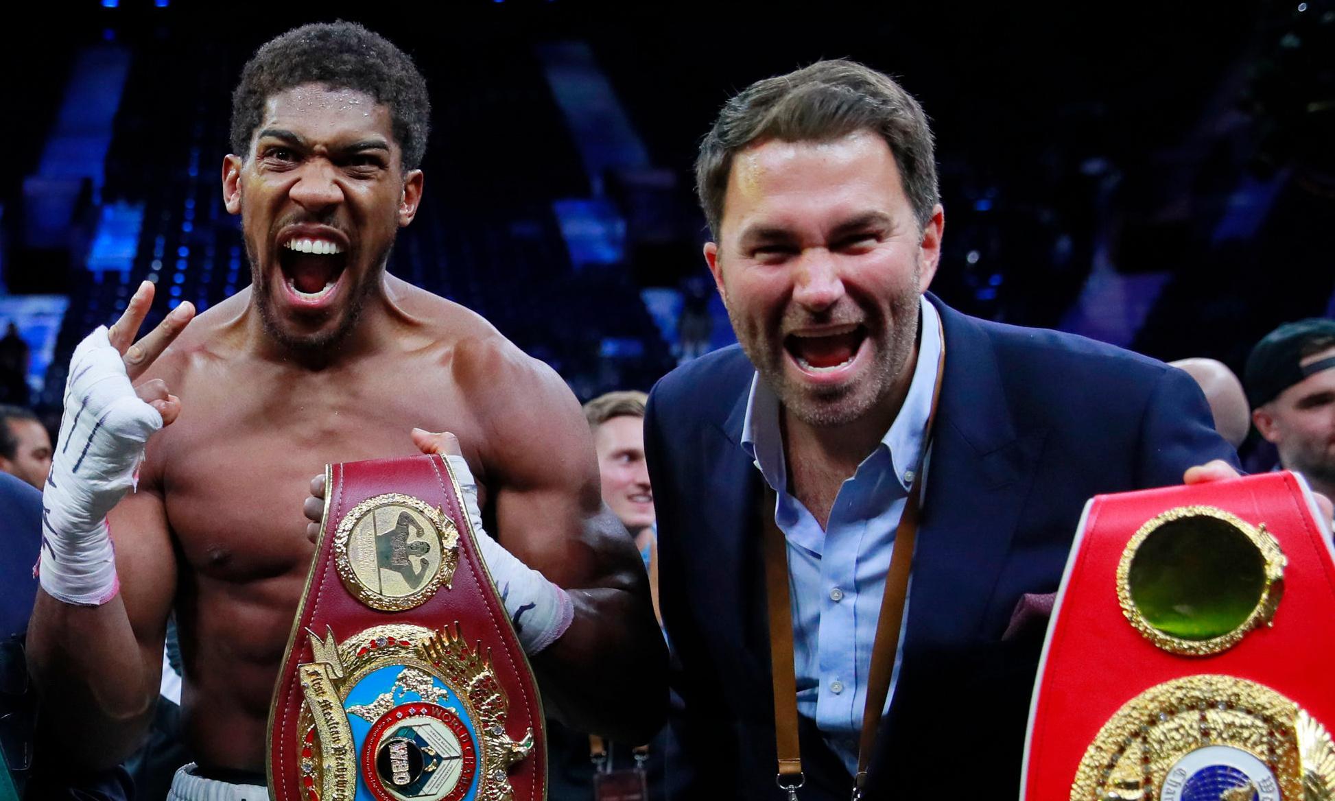 Anthony Joshua would be underdog against Tyson Fury, says Eddie Hearn
