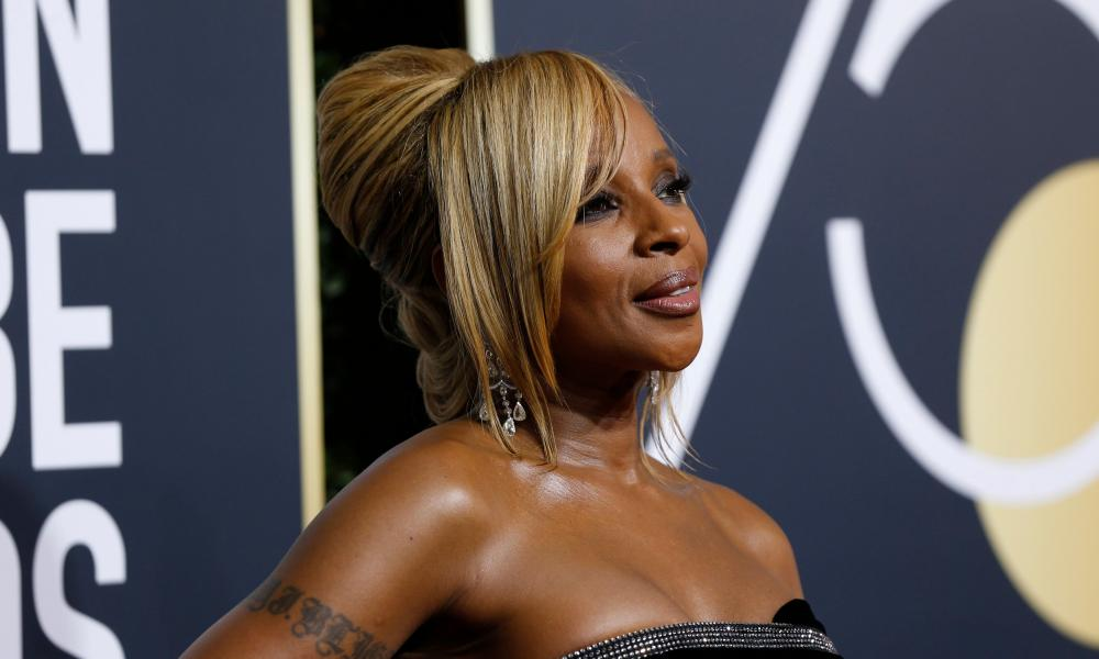Mary J Blige at the 2018 Golden Globe awards.