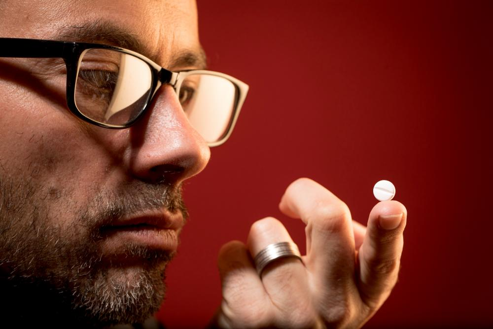 David Adam and a modafinil tablet.