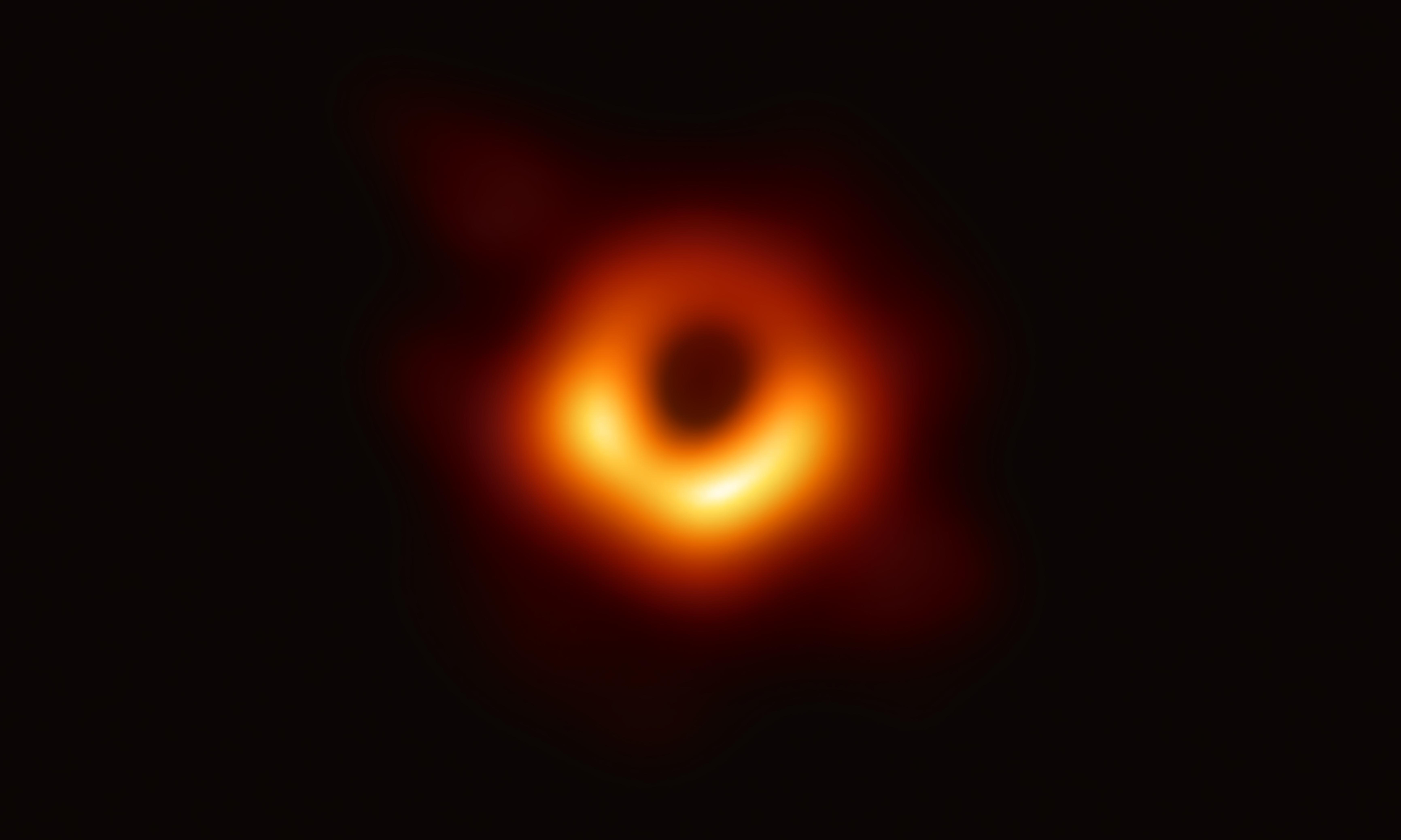 The first black hole image: what can we really see?