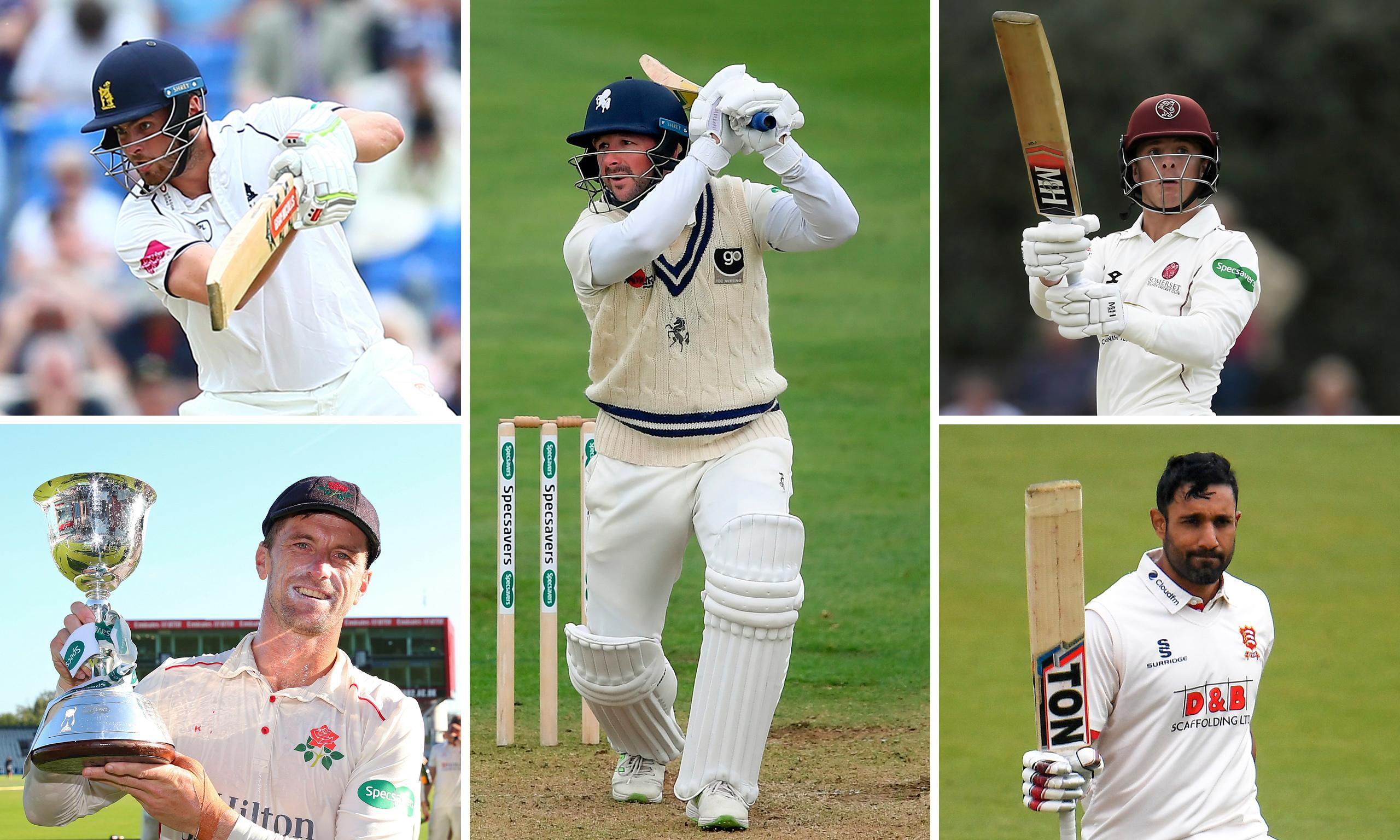 The five county cricketers of the year