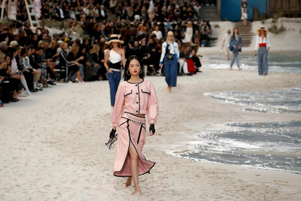 Chanel's signature suit with an athleisure twist.