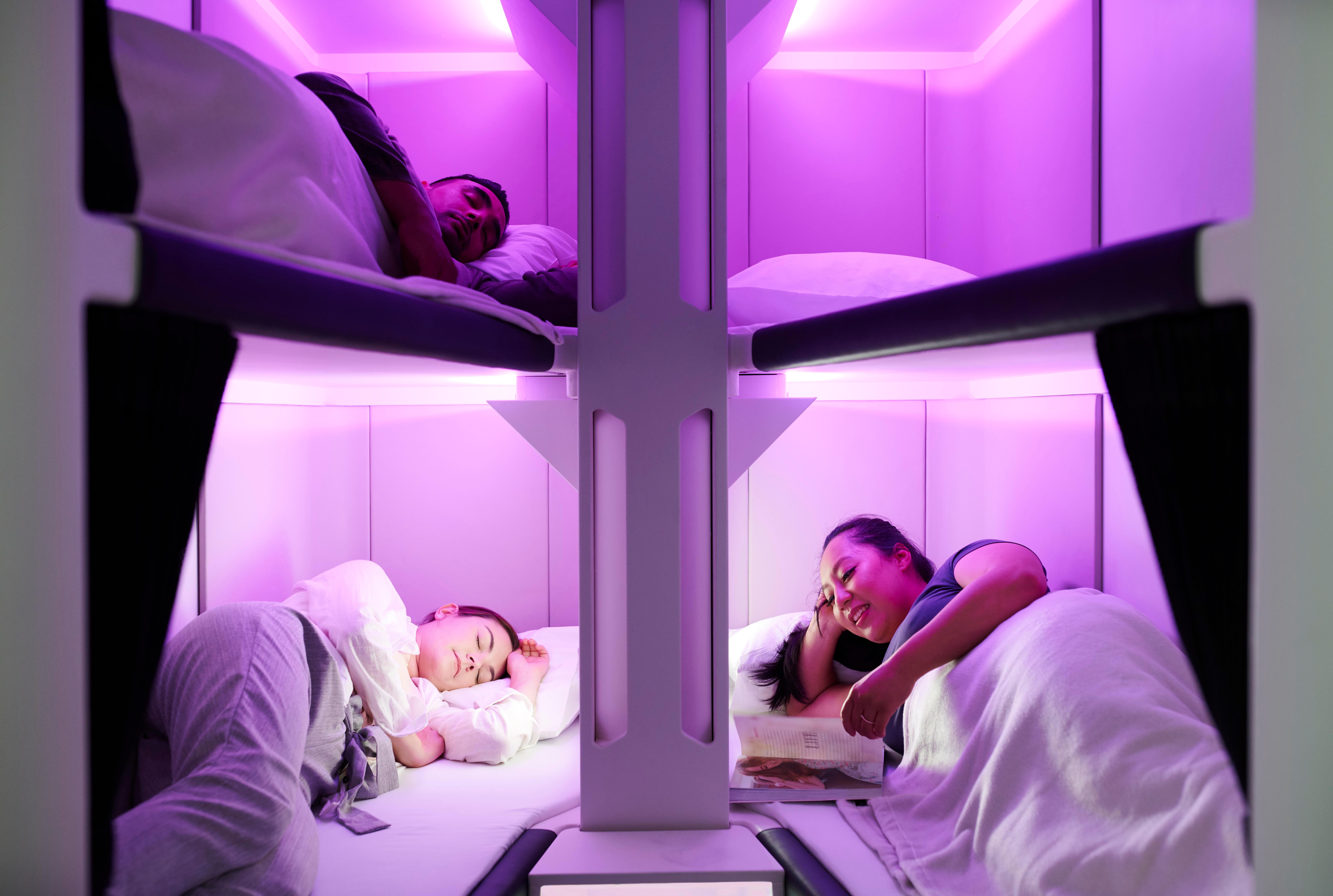 Lie-flat beds in economy class: Air New Zealand unveils bunks for budget travellers