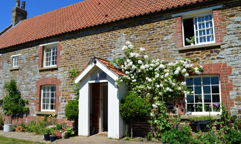 Farmhouse at Ryedale Vineyards, North Yorkshire.