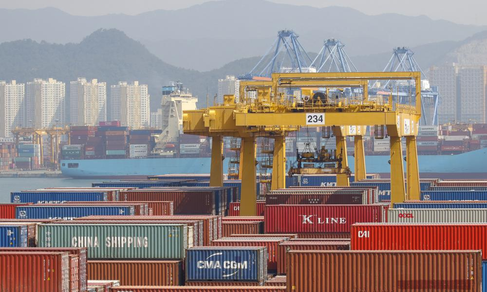 New Container Port at Busan, South Korea.