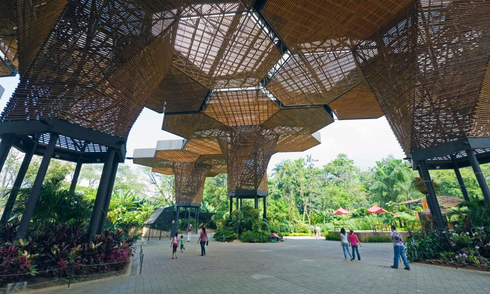The 40-acre botanical gardens are a focal point for outdoor leisure in the city.