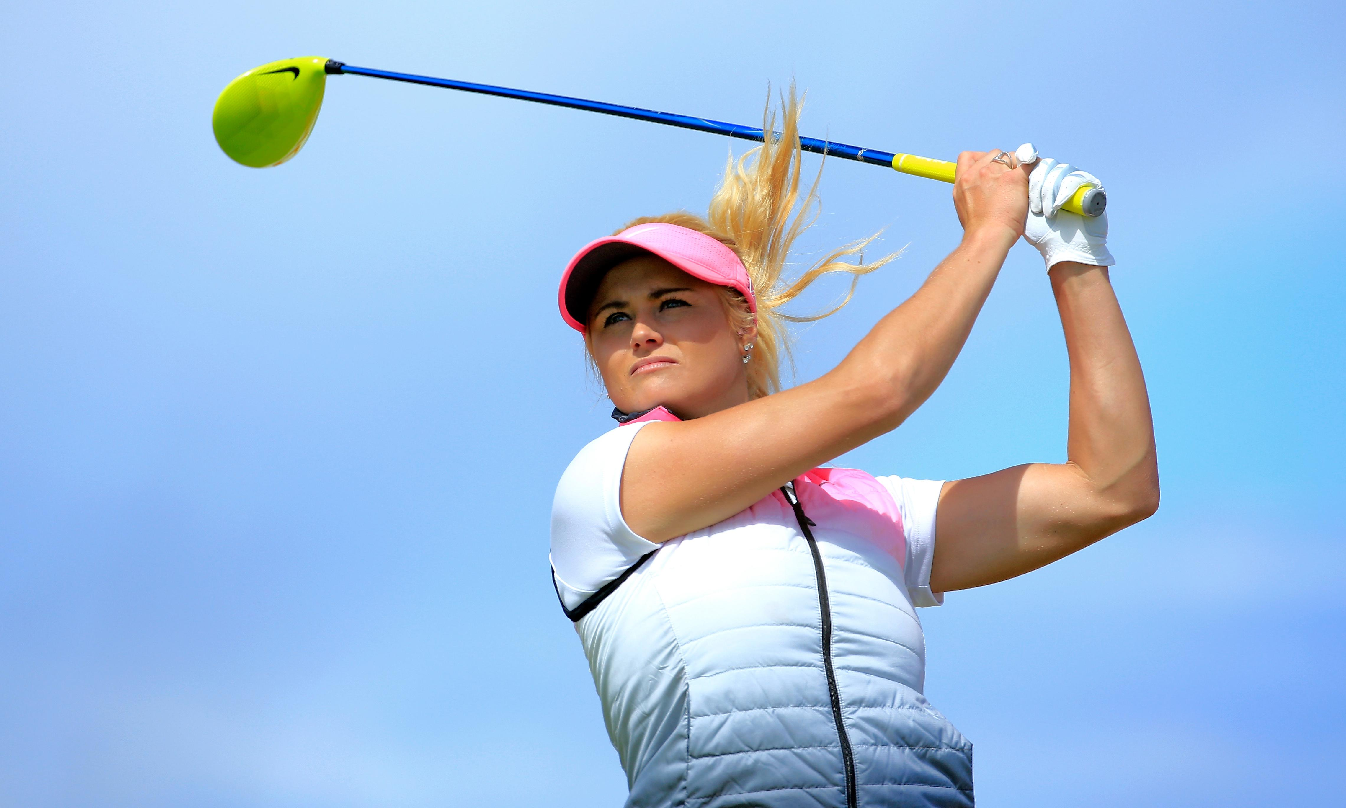 Carly Booth faces criticism over sponsorship deal with Golf Saudi