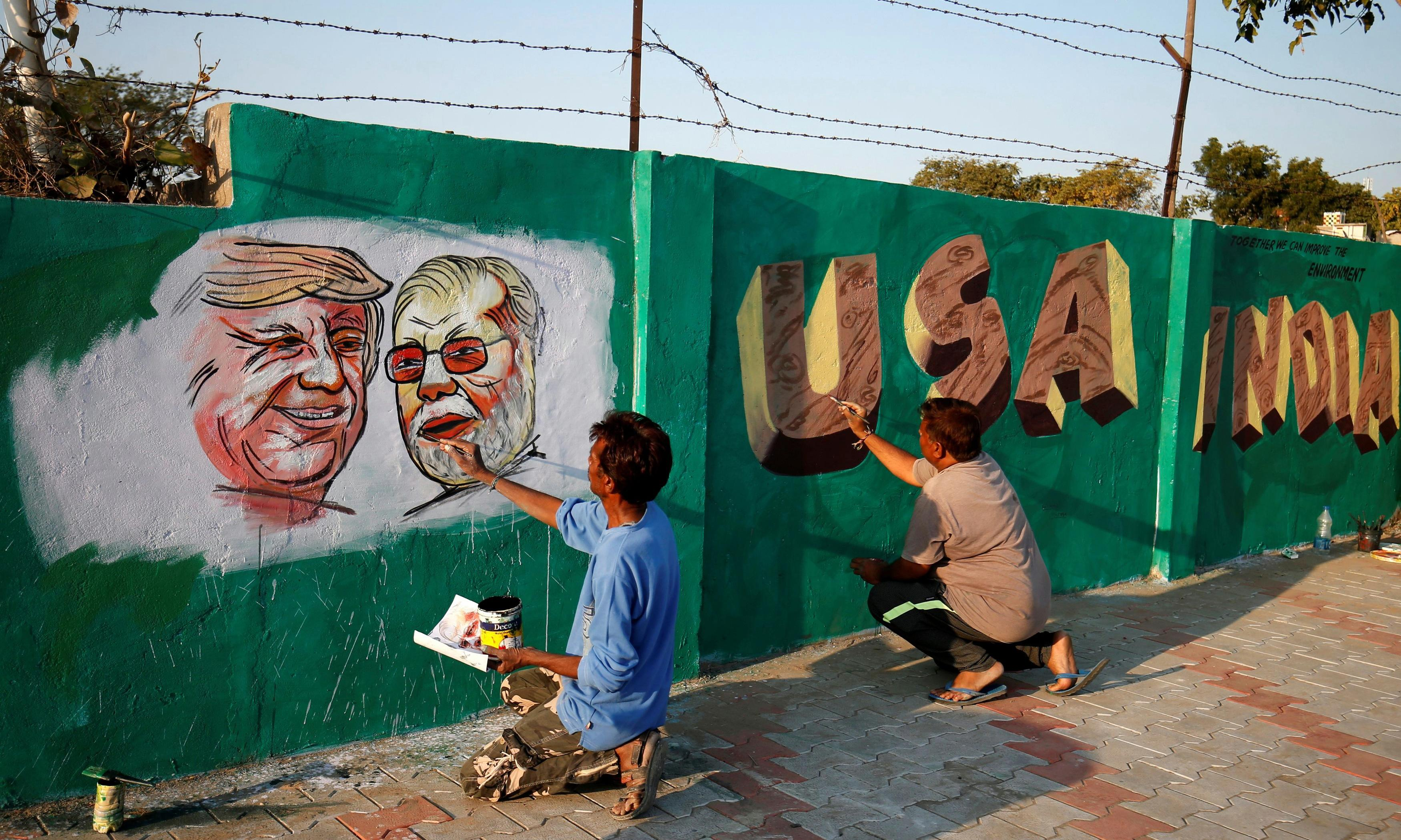 'Trump got his wall': Indian city rushes to beautify before visit