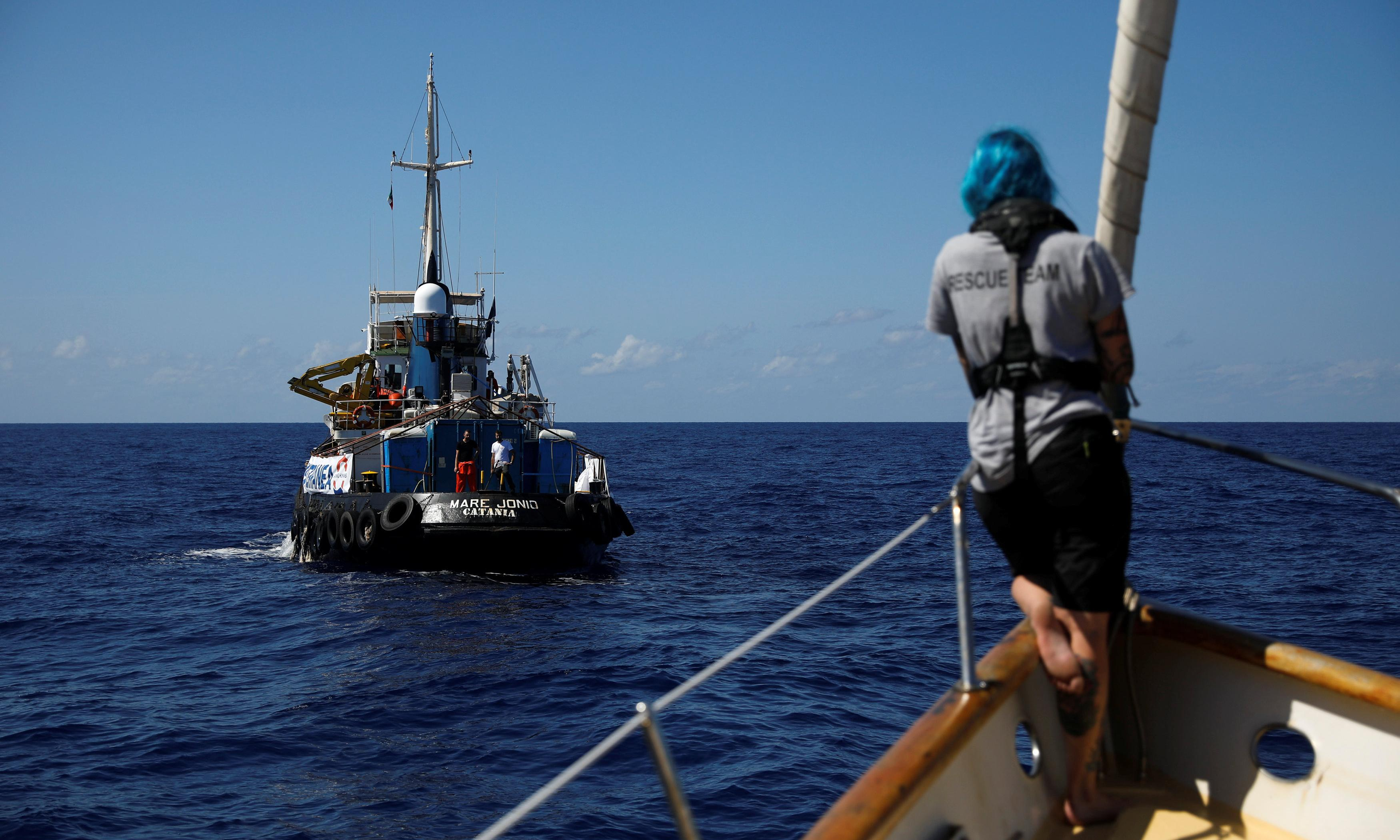 Italian charity ship defies Rome to rescue 50 off Libyan coast