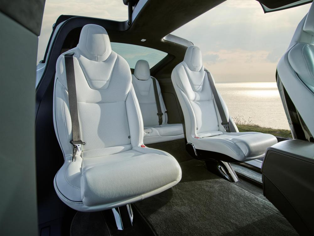 Inside story: the Model X comes as a five, six or seven seater