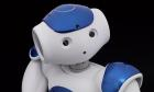 Nao V5 Evolution humanoid robot, created by Aldebaran Robotics, France, c.2016