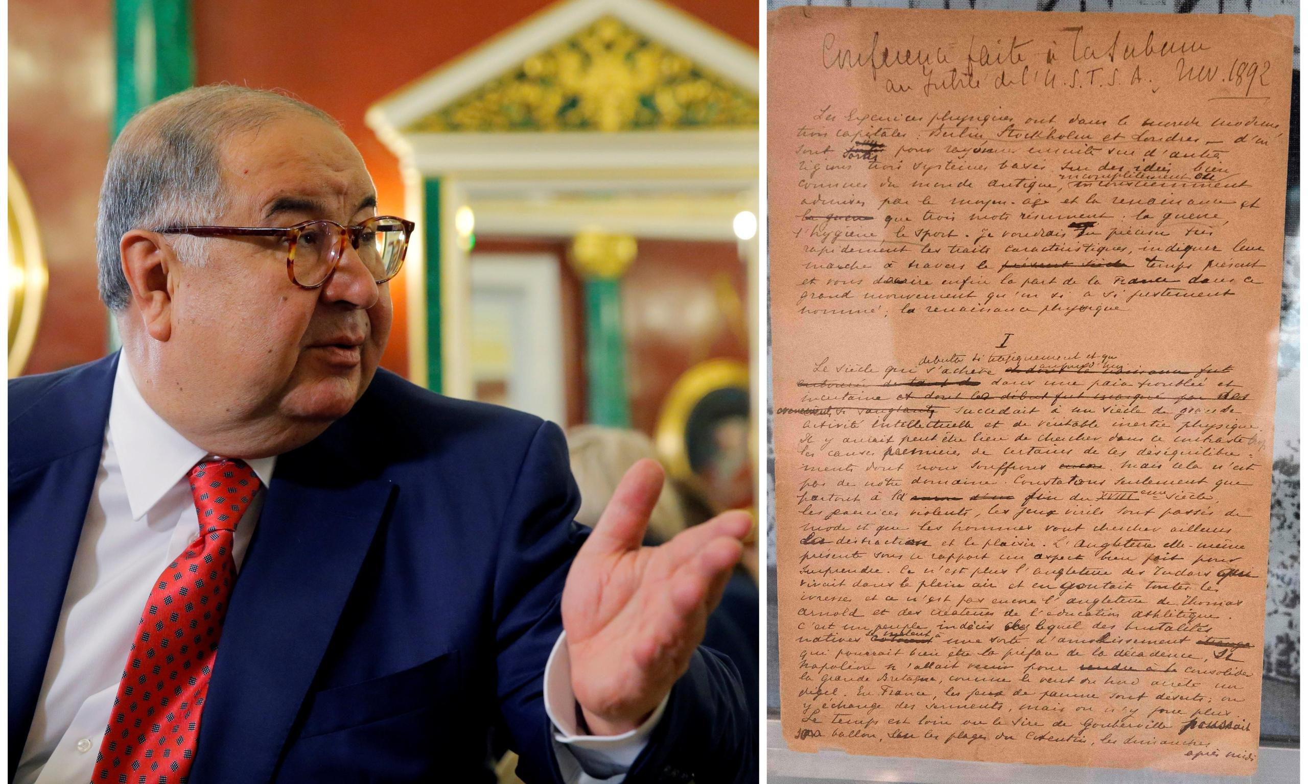 Alisher Usmanov's remedy for love? New love. And a £6.8m Olympic manifesto