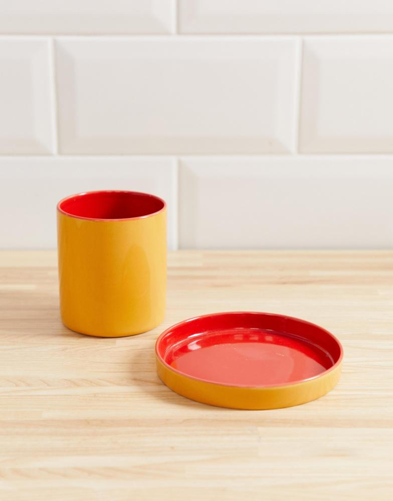 Cheeky orange bathroom set, £14, Asos Supply