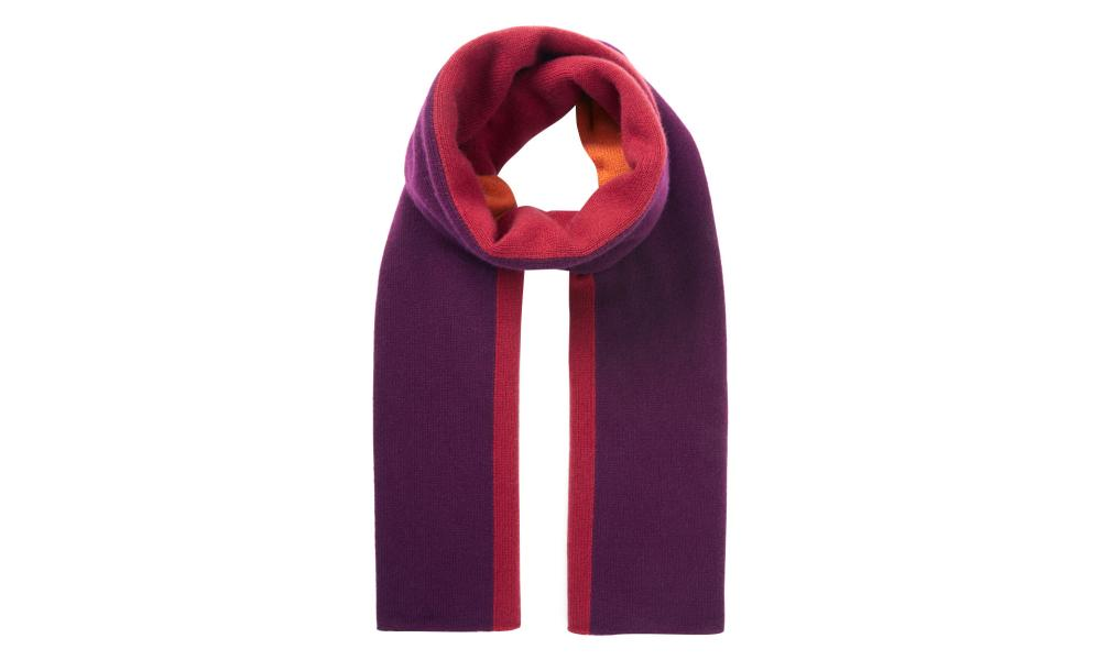 Cashmere colour block stripe scarf, £120