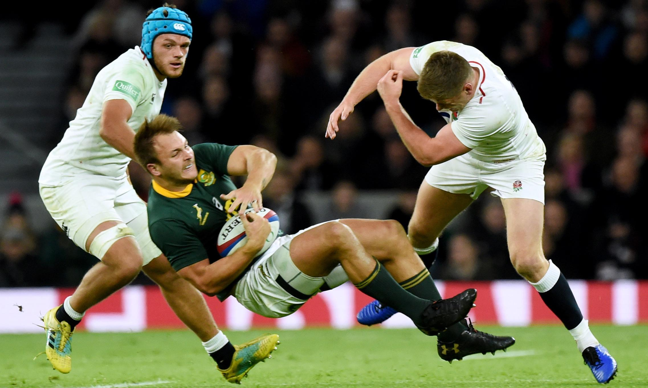 Furore over Owen Farrell's big hit leads to call for refereeing consistency