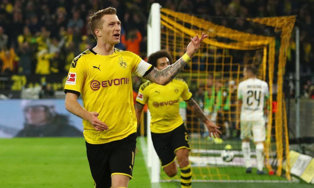 Marco Reus, of Borussia Dortmund, was on target against Borussia Moenchengladbach.
