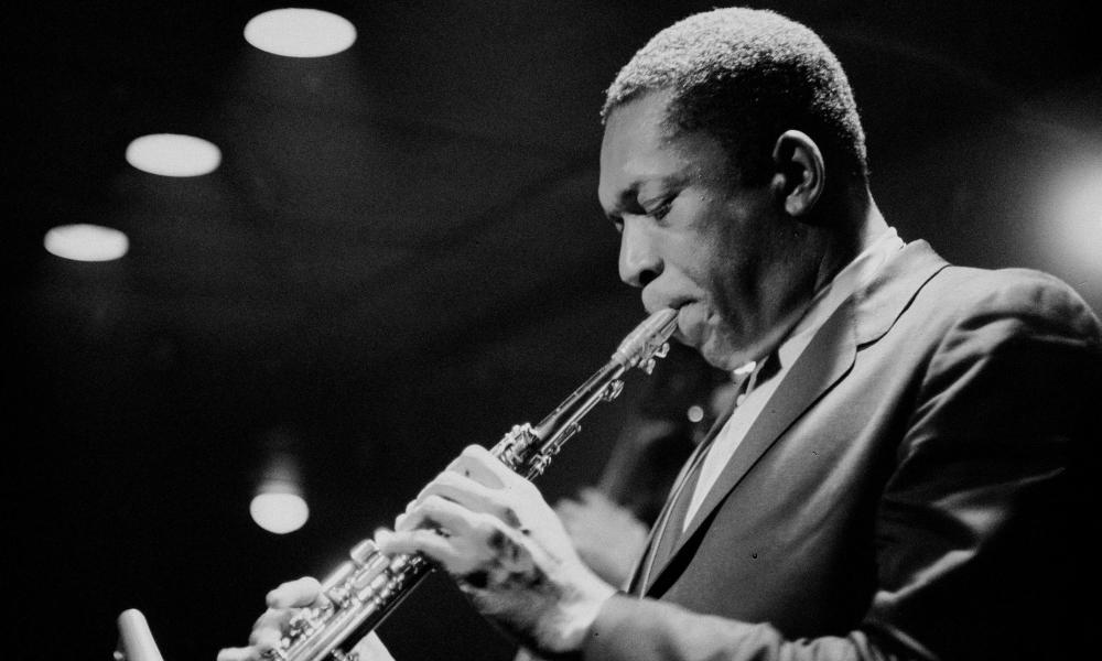 John Coltrane performing (year unknown) as seen in Fire Music.