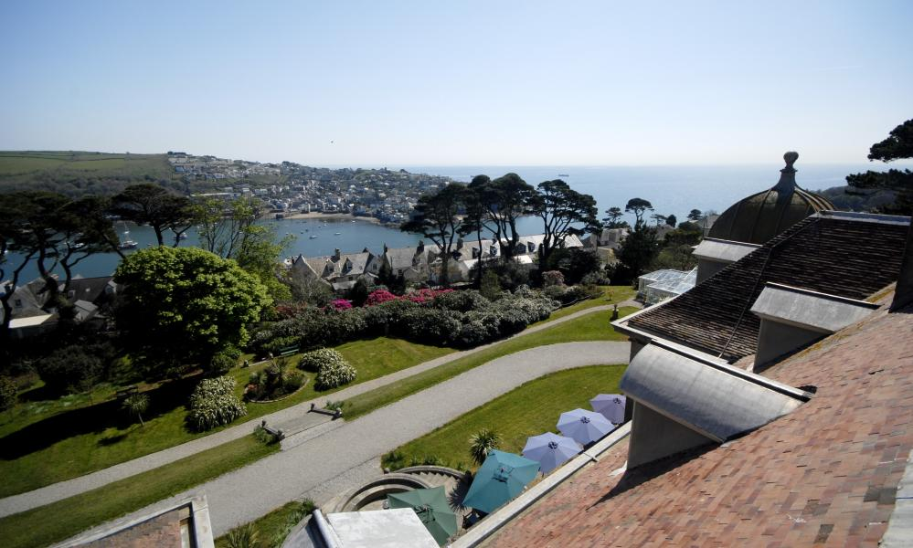 View of the town from Fowey Hall Hotel