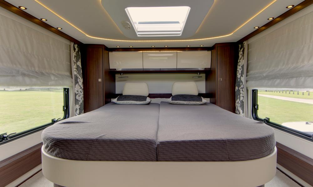 Star gazer: the double bed with panoramic sunroof.