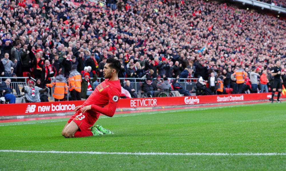 Emre Can enjoys his winner against Burnley