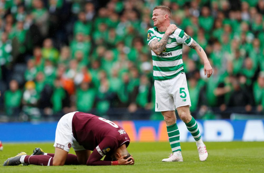 Celtic's Jonny Hayes in the thick of things