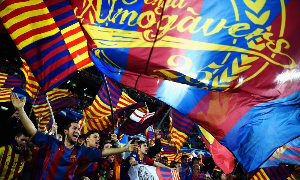 Barcelona fans at Camp Nou