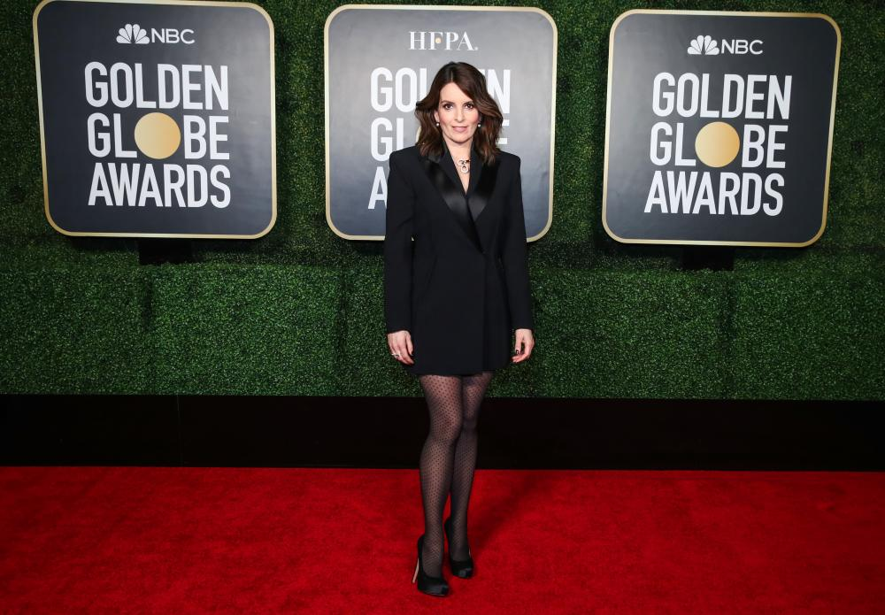 Co-host Tina Fey attends the 78th Annual Golden Globe Awards held at the Rainbow Room.