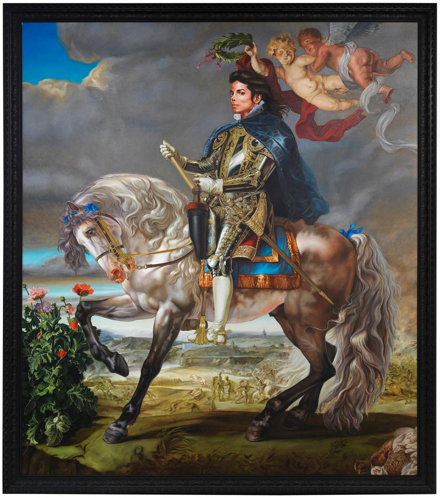 Equestrian Portrait of King Philip II (Michael Jackson) by Kehinde Wiley, 2010.