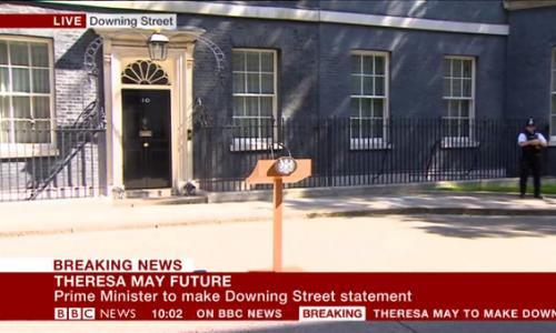 An announcement at 10 Downing Street is imminent