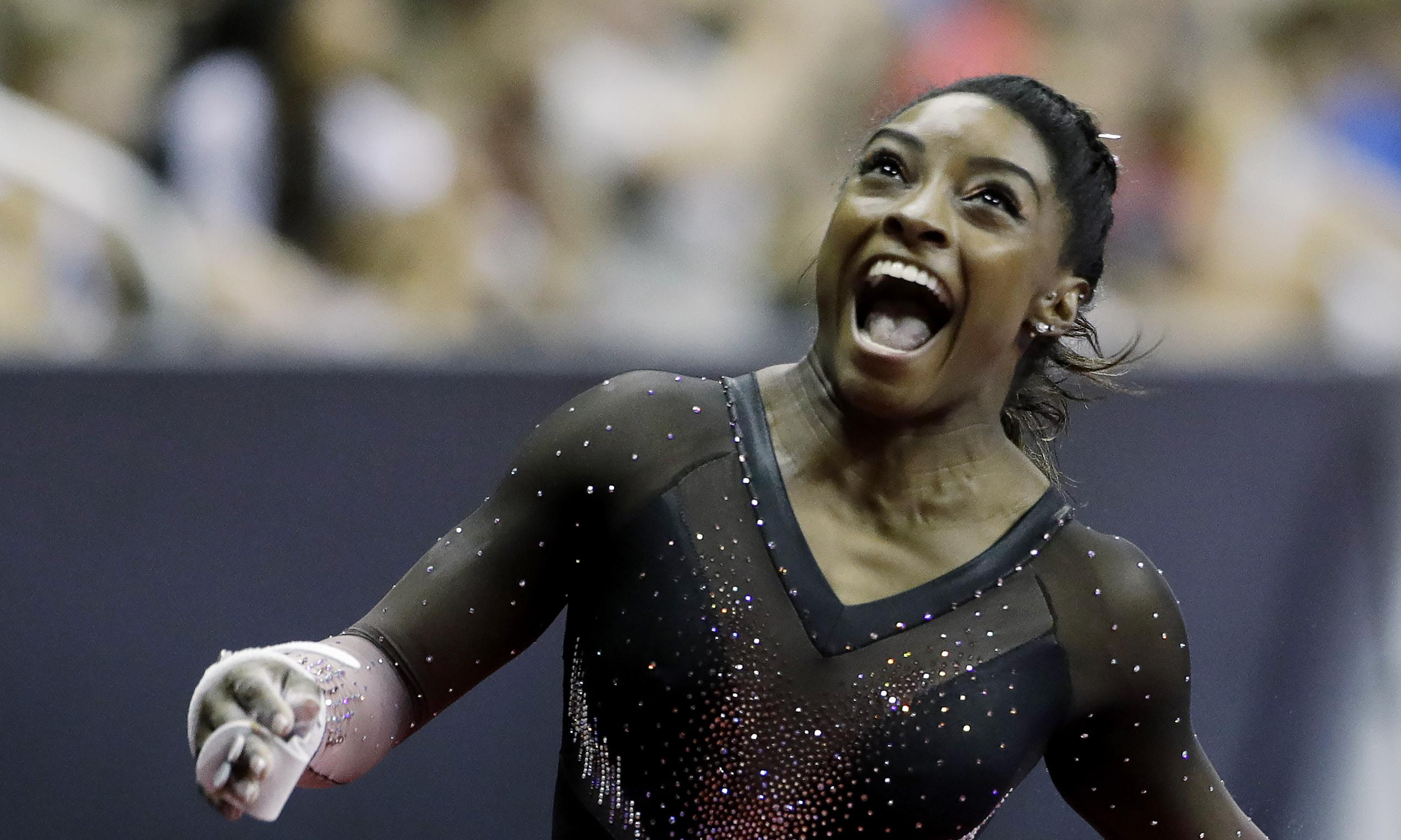 How wonderful to watch Simone Biles' defiant joy in our dark times