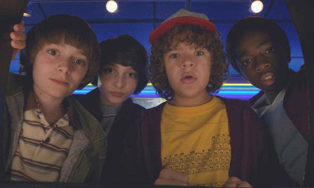 Will, Mike, Dustin and Lucas from Stranger Things