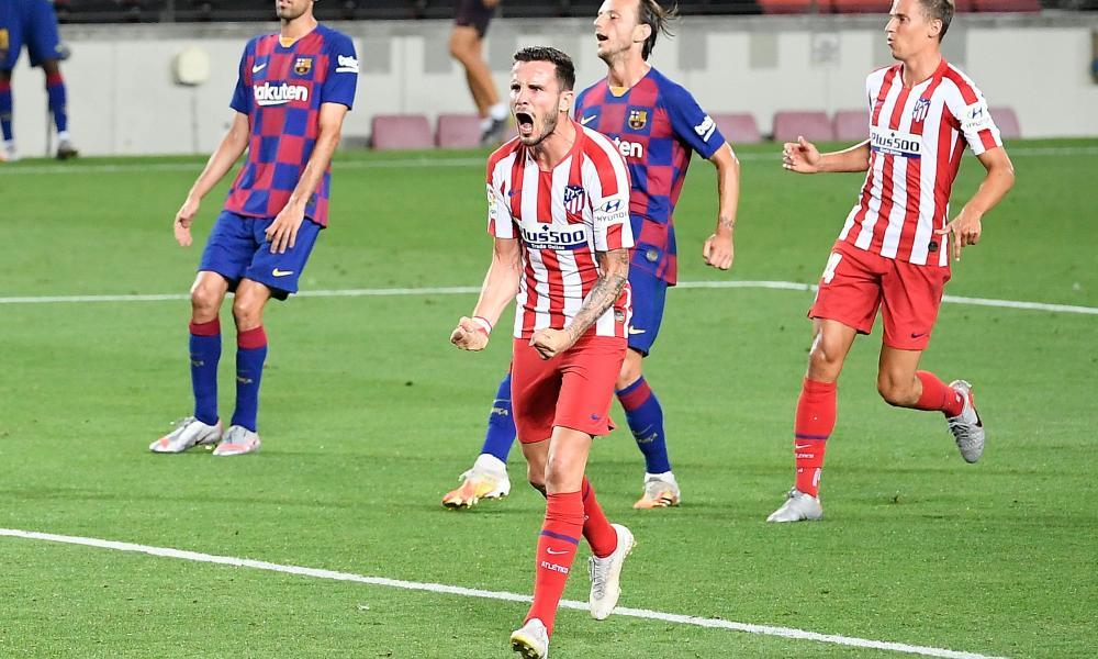 Saúl Ñíguez scored twice from the spot.
