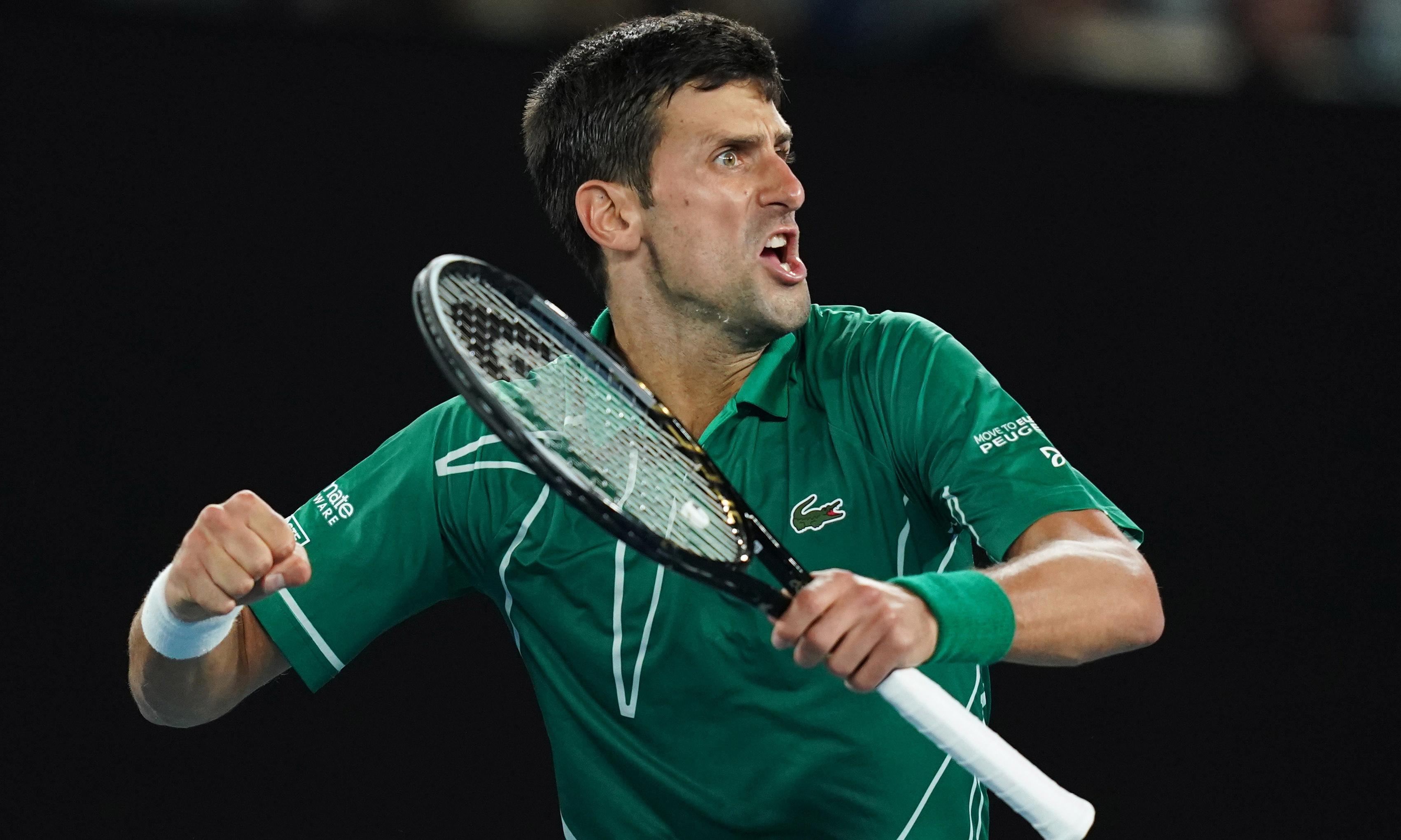Djokovic eases past Federer in straight sets to make Australian Open final