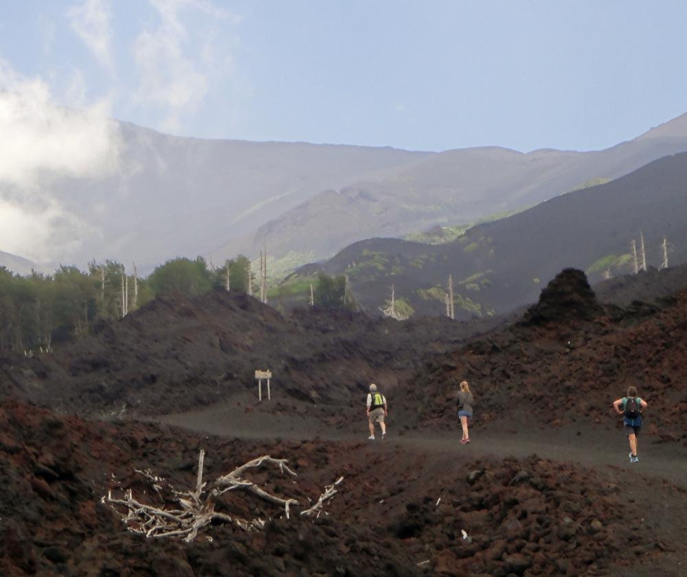 Trekking among the lava flows, Etna Nord