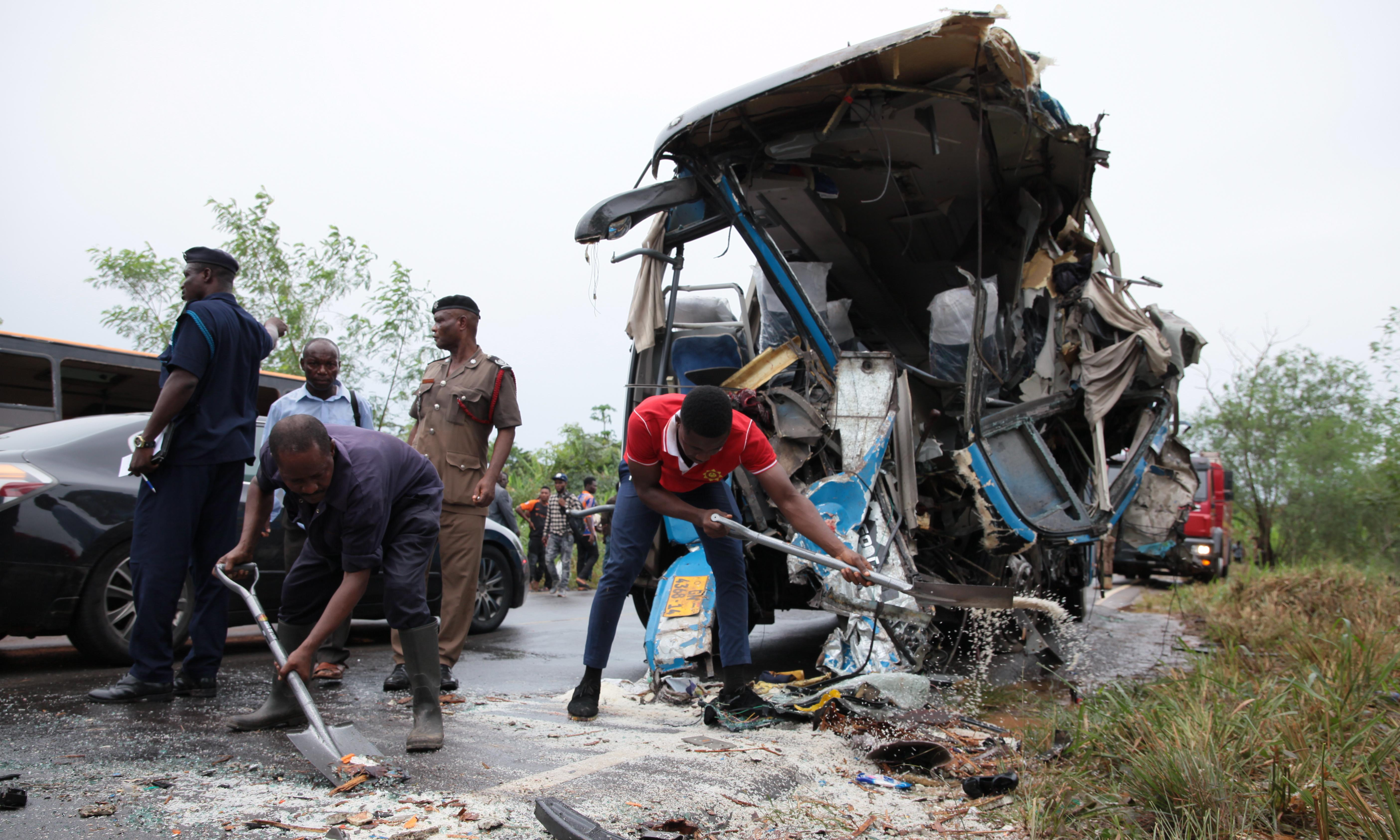 Ghana: at least 60 dead after two buses collide in Bono East