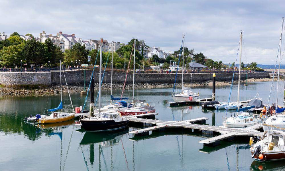 Serene marina … quiet waters off Bangor.