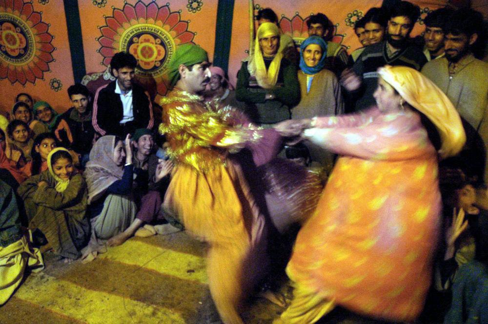A traditional Kashmiri dancer at a wedding