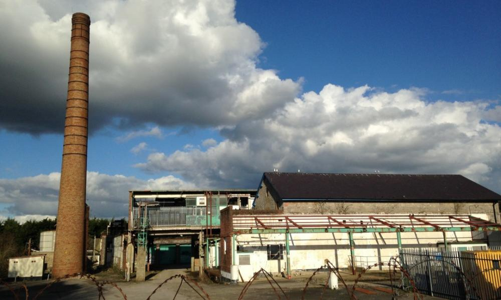 The Atmos community project site at a former Dairy Crest factory in Totnes.