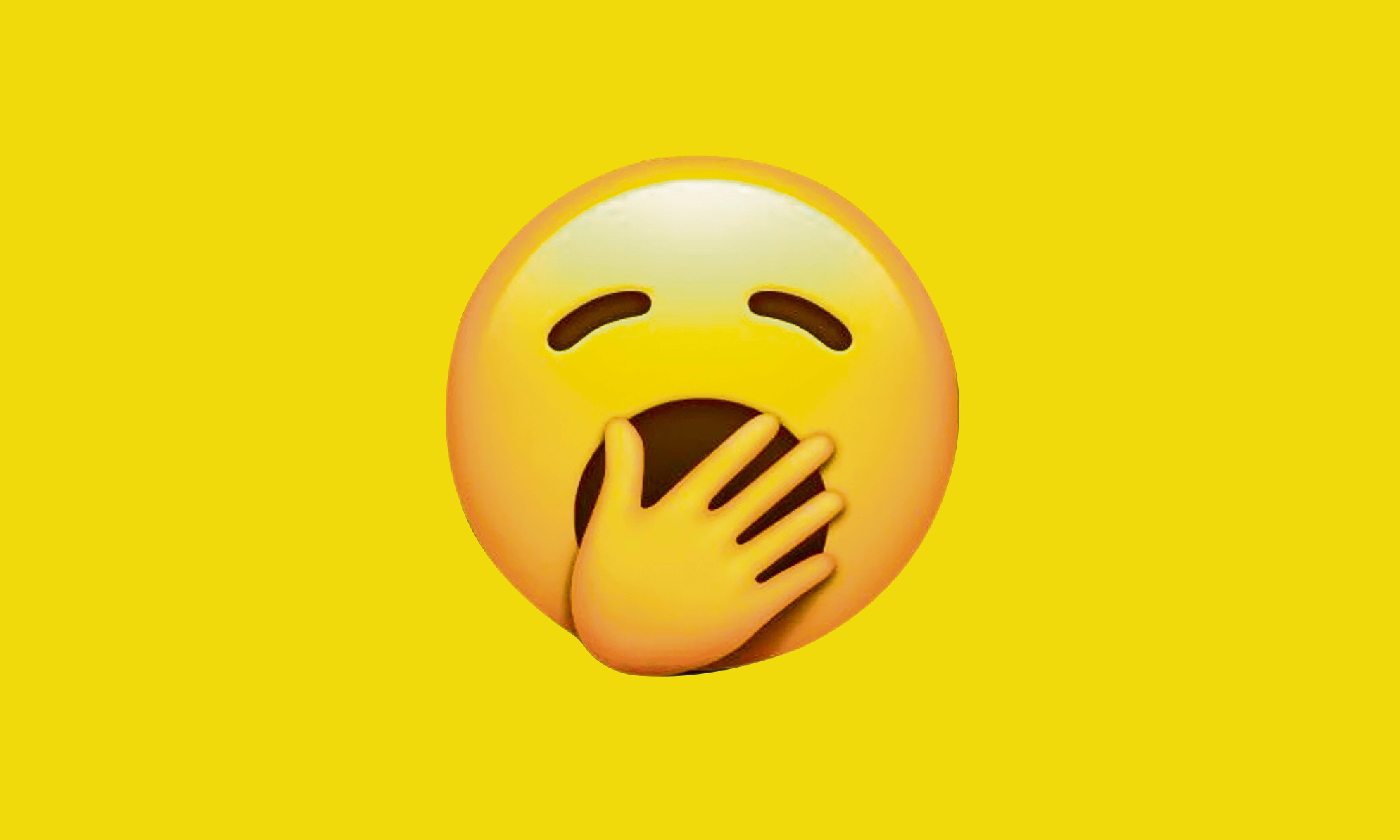 Yawning Face: finally, an emoji that embodies life in 2019
