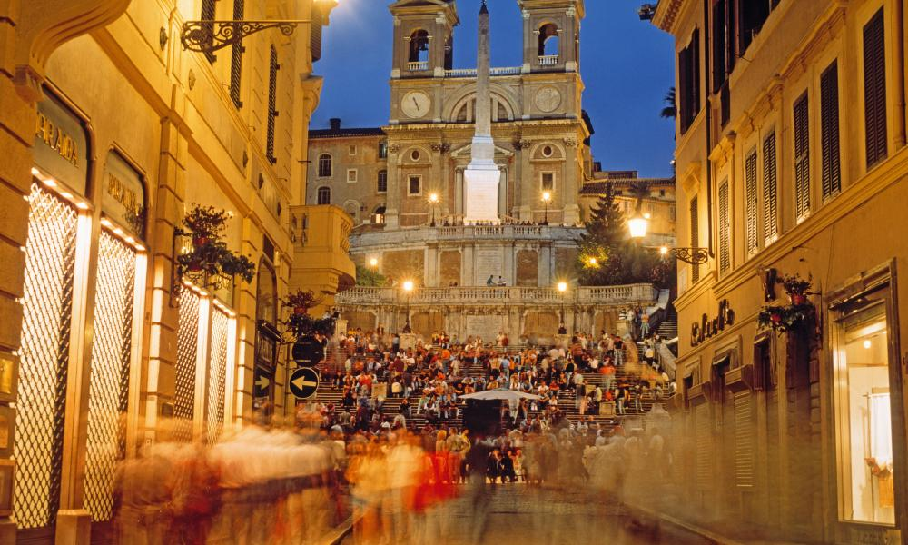 The Spanish Steps seen from Via Condotti.