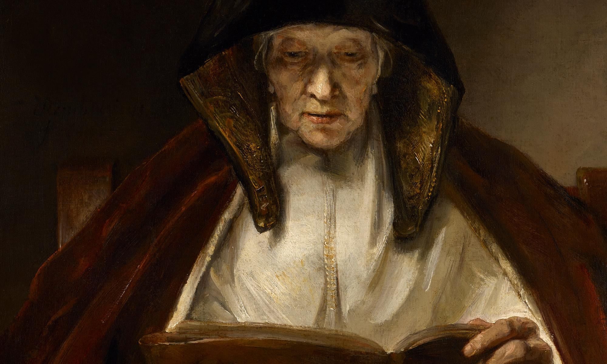 Rembrandt's An Old Woman Reading: subtle drama and rugged human experience