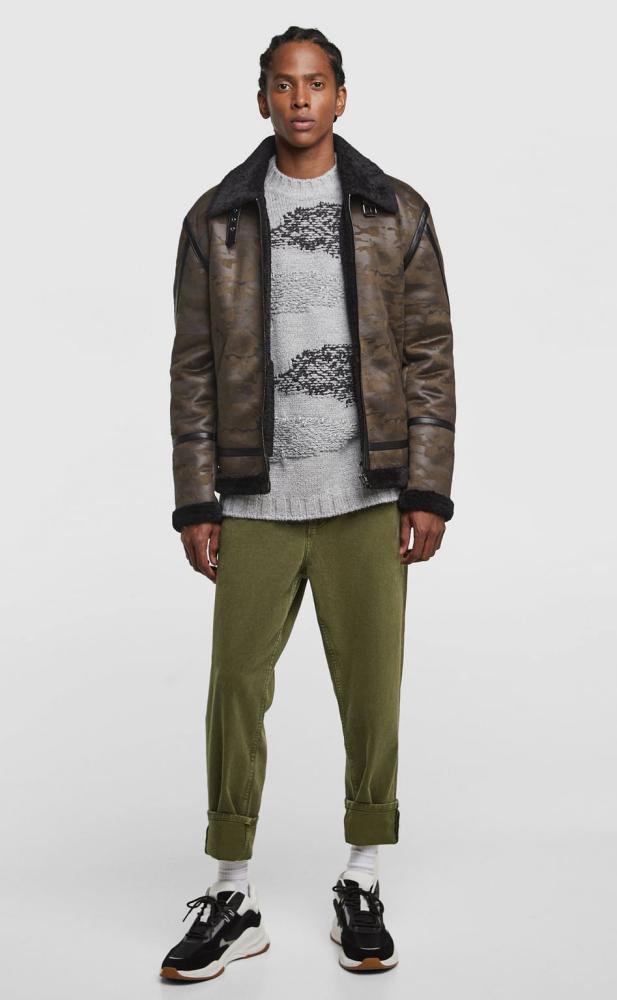 Sweater with multi-thread detail, Zara, £49.99.