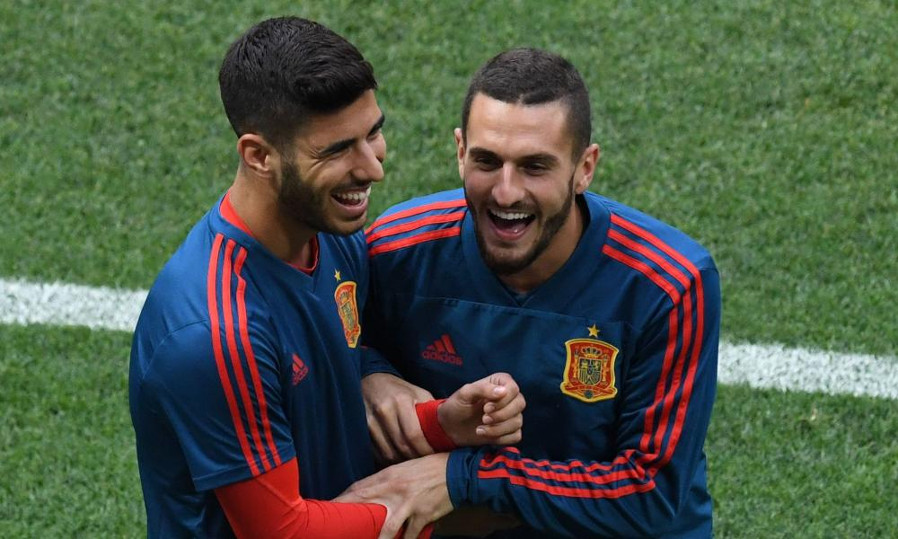Marco Asensio and Koke will both start for Spain against Russia