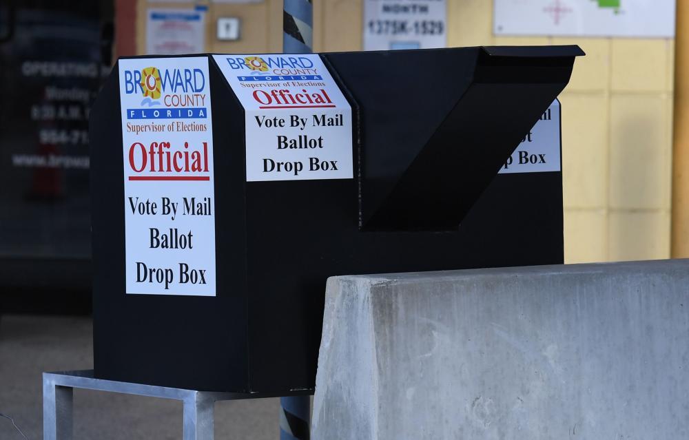 Vote by mail ballot drop box