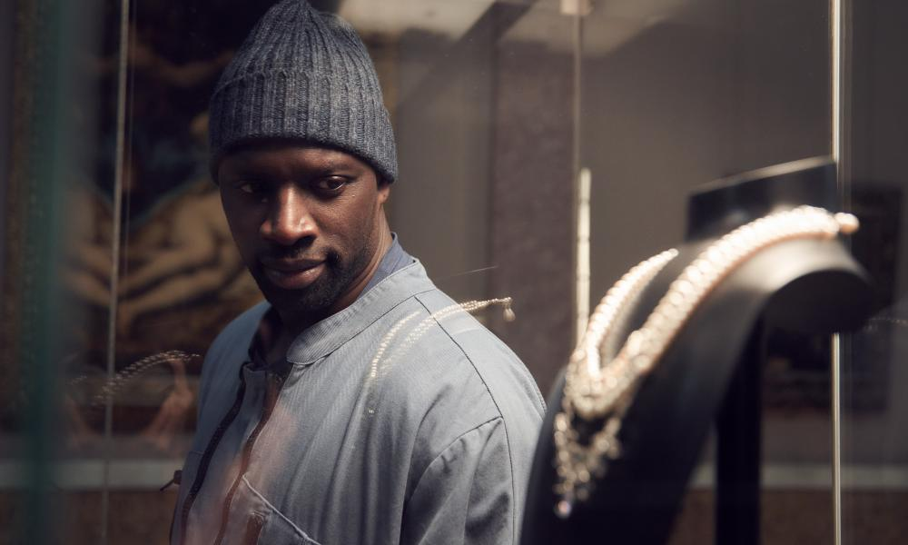 Omar Sy as Assane Diop, the suave master thief in the French Netflix show Lupin.