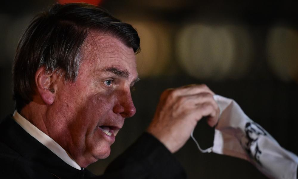 Bolsonaro in May. On Tuesday the president confirmed live on television that he had tested positive for the coronavirus.
