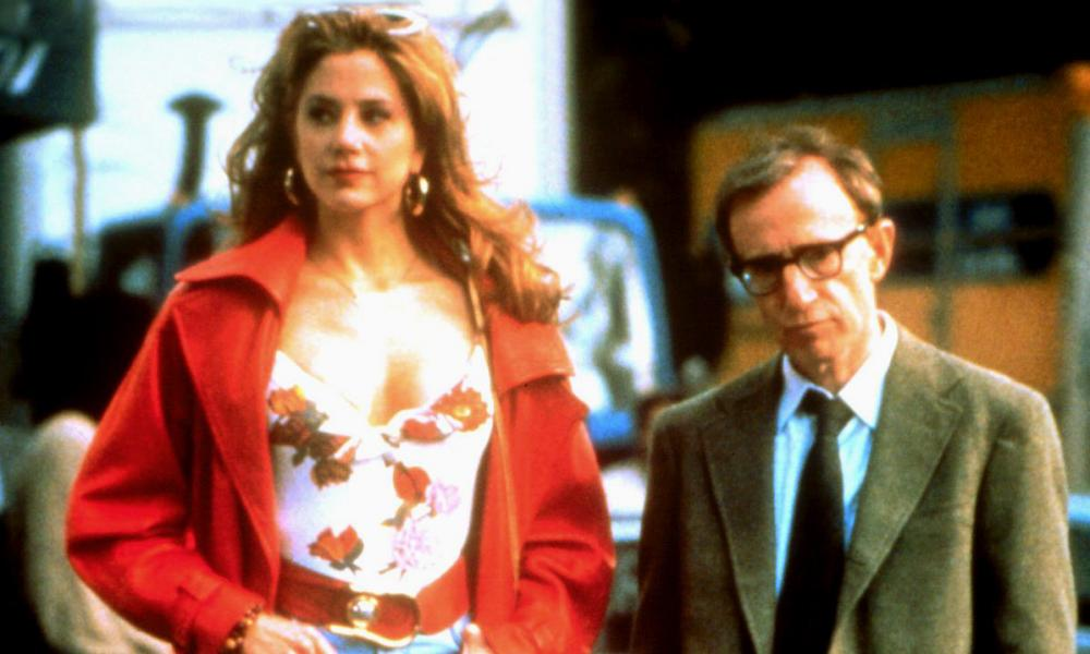 Mira Sorvino and Woody Allen in Mighty Aphrodite.
