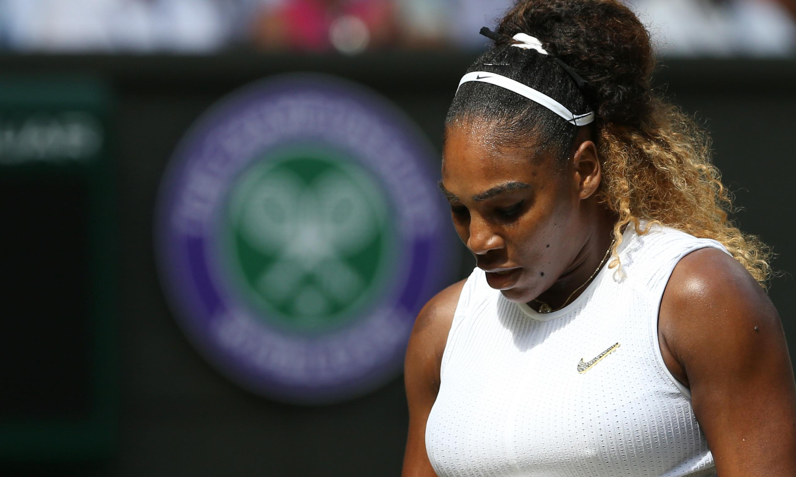 Serena Williams battles burden of expectation before Simona Halep final