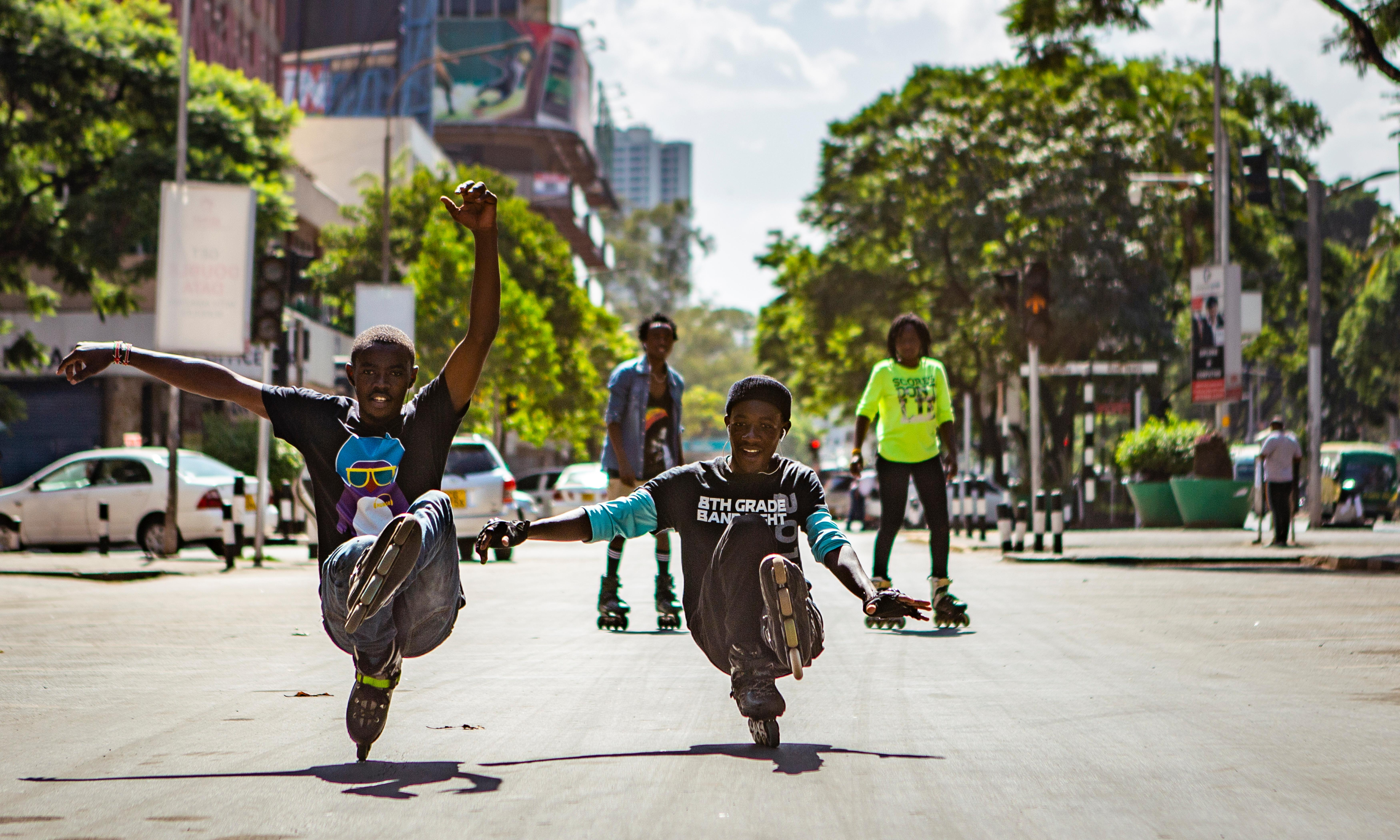 Where did all those 90s rollerblades end up? Nairobi